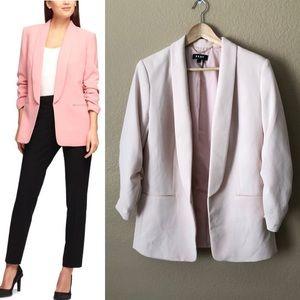 Dkny ruched pink blazer